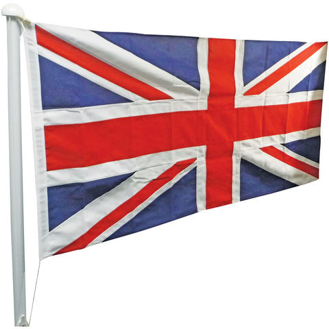 Image of One Stop Promotions One Stop Promotions Union Jack Sewn Flag with Rope & Toggle (6x3ft)