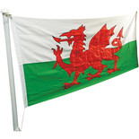 One Stop Promotions Welsh Dragon Sewn Flag with Rope & Toggle (6x3ft)