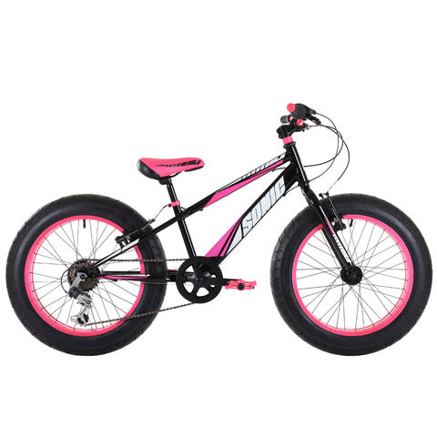 Photo of Sonic sonic bulk childrens black & pink fat tyre bike -11