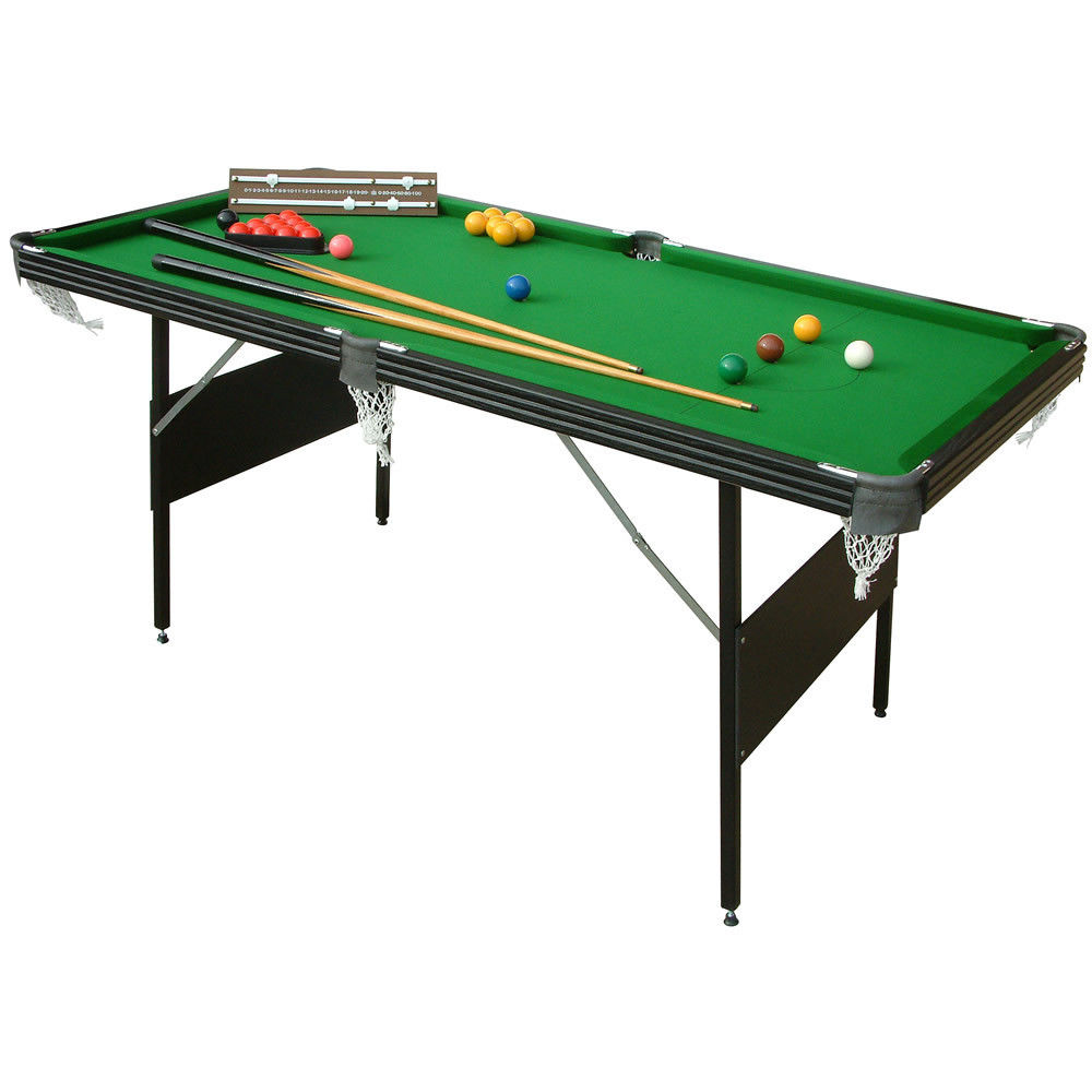 Mightymast Leisure Ft Crucible In Foldup Snooker Pool Table - Huge pool table