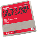 Rodo 243SQB 24x3ft Cotton Dust Sheet
