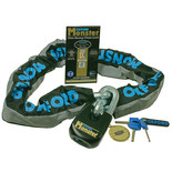 Oxford OF16 Monster Ultra Strong Chain and Padlock - 1.2m
