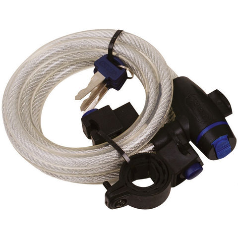 Image of Oxford Oxford 1.8m Cable Lock (Clear)