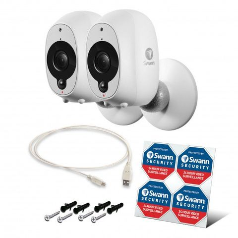 Image of Swann Swann Security SWWHD-INTCAMPK2 1080p Wi Fi Camera Pack of 2