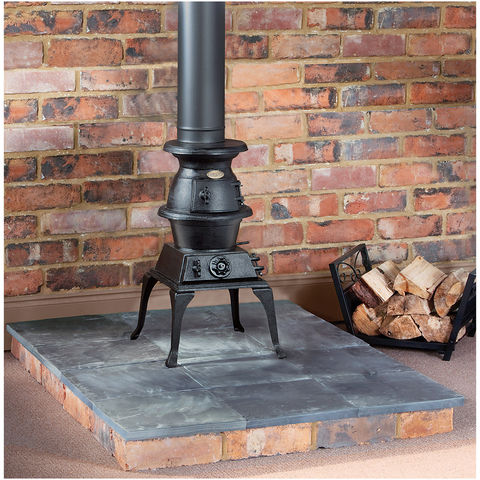Clarke Potbelly Standard Size Cast Iron Wood Burning Stove Machine Mart Machine Mart