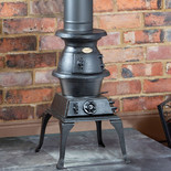 Clarke Pot Belly - Standard Size Cast Iron Wood Burning Stove