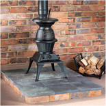 Clarke Pot Belly Large Cast Iron Wood Burning Stove