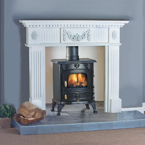clarke buckingham cast iron multi fuel stove machine mart rh machinemart co uk cast iron electric stove fireplace cast iron stove inside fireplace