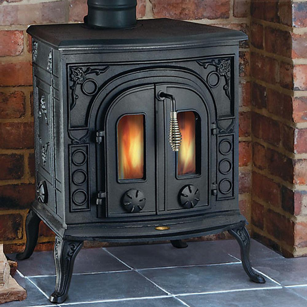 clarke victoria cast iron wood burning stove machine mart