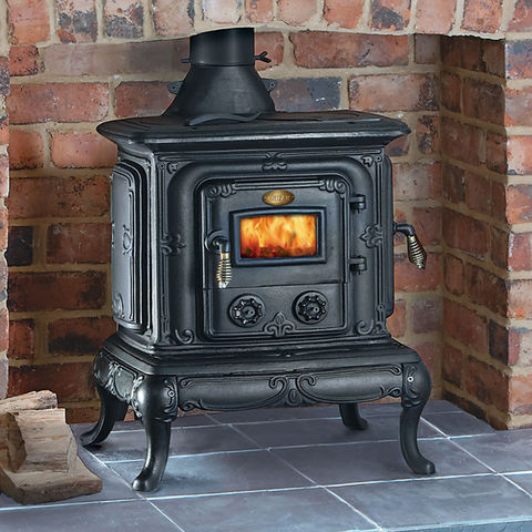 clarke parlour cast iron wood burning stove machine mart