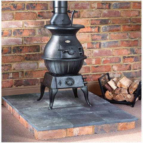 Clarke Potbelly Extra Large Cast Iron Wood Burning Stove Machine Mart Machine Mart