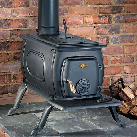 Image of Clarke Clarke Boxwood Deluxe Cast Iron Wood Burning Stove