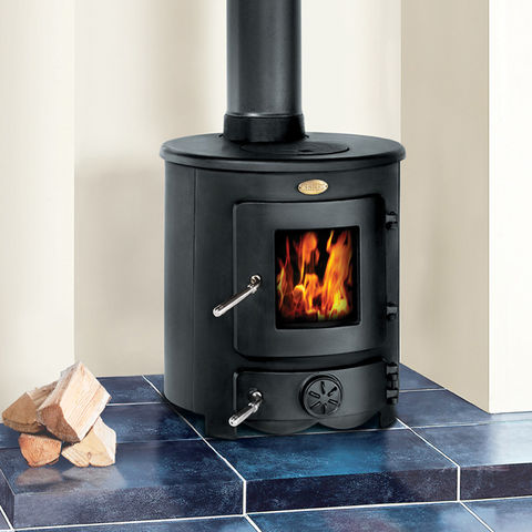 Clarke barrel ii 8kw cast iron wood burning stove for Most efficient small wood burning stove
