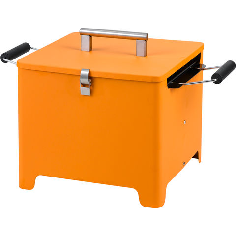 Image of Tepro Tepro Chill and Grill Cube Charcoal Grill (Orange)