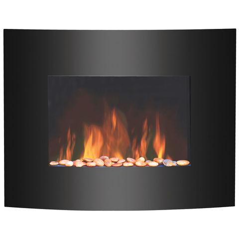 Image of igenix Igenix 1.8kW Hamilton Wall-Mounted Glass Fire with LED Flame Effect