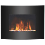 Igenix 1.8kW Hamilton Wall-Mounted Glass Fire with LED Flame Effect