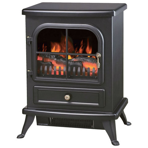 Image of igenix Igenix 1.8kW Black Oakmen Flame Effect Stove