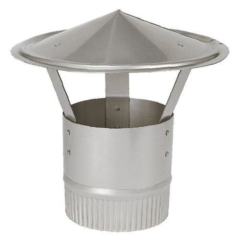 """Image of Price Cuts 5"""" Stainless Steel Flue Cowling"""