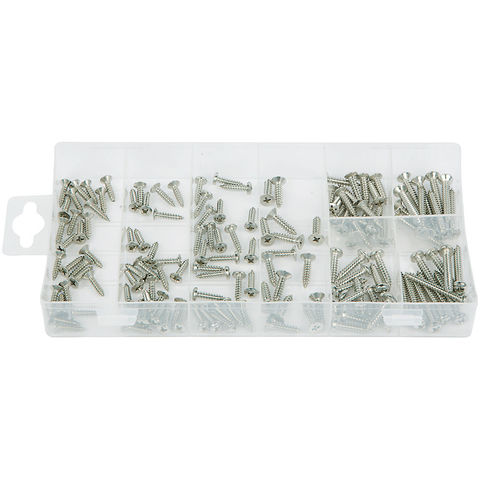 Image of Machine Mart 140 Piece Stainless Steel Self Tapping Screw Assortment