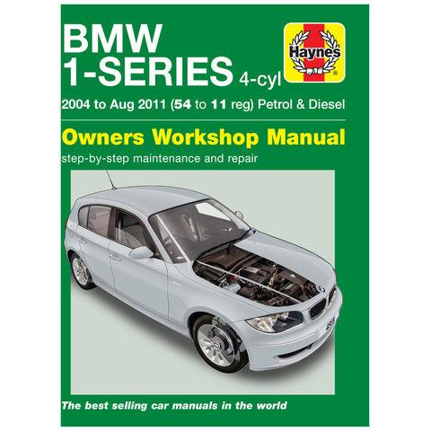 Image of Haynes Haynes BMW 1-Series 4-cyl Petrol & Diesel (04 - Aug 11) 54 to 11 Manual