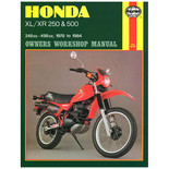 Haynes Honda XL/XR 250 & 500 (78 - 84) Manual