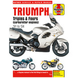 Haynes Triumph Triples & Fours (Carburettor engines) (91 - 04) Manual