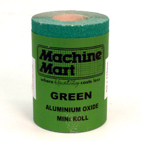 Image of National Abrasives Green Aluminium Oxide Paper - 5m Roll, 100 Grit