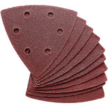 Clarke 10 Pack of 90mm Delta Triangle Hook and Loop Sanding Sheets – 60 Grit