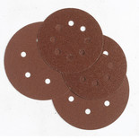 50 Alu. Oxide 8-Hole Sanding Disc 125mm Dia. - Coarse