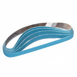 Zirconium Heavy Duty Powerfile Belt 13x455mm Assorted Grit - Pk10