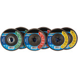 6 Piece Zirconium Oxide Flap Disc Set