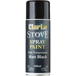 Clarke High Temperature Matt Black Stove Paint