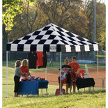 Clarke CC15 Heavy Duty Chequer Style Pop Up Canopy (3x4.6m)