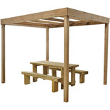 Forest 221x200x300cm Dining Pergola Without Panels
