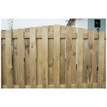 Pressure Treated Decorative Hit and Miss Domed Top Fence Panel 6ft x 3.5ft (1.83m x 1.1m)