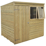 Forest 7x5ft Pent Shiplap Pressure Treated Shed
