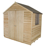 Forest 7x5ft Apex Overlap Pressure Treated Double Door Shed
