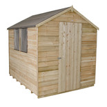 Forest 6x8ft Apex Overlap Pressure Treated Shed