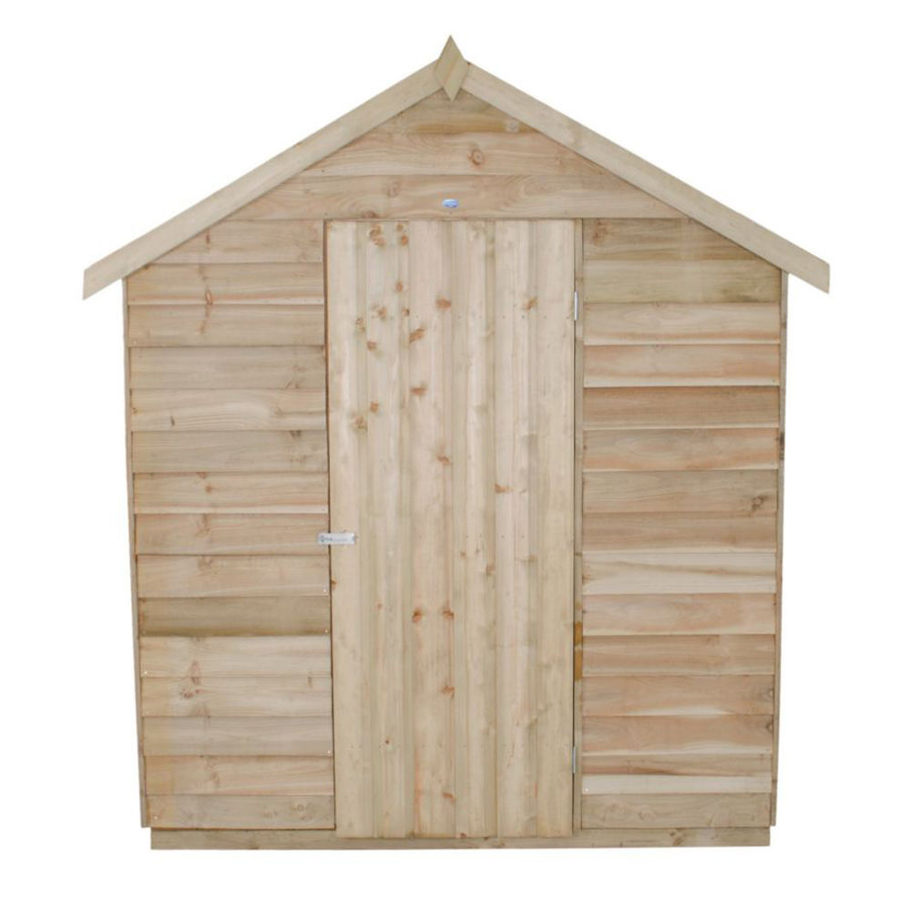Forest 6x8ft Apex Overlap Pressure Treated Shed with
