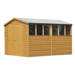 Shire 10' x 6' Overlap Apex Double door Shed