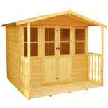 Shire Houghton 7' x 7' inc Veranda Summer House