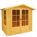 Shire 7' x 7' Buckingham Summerhouse (Pressure Treated)