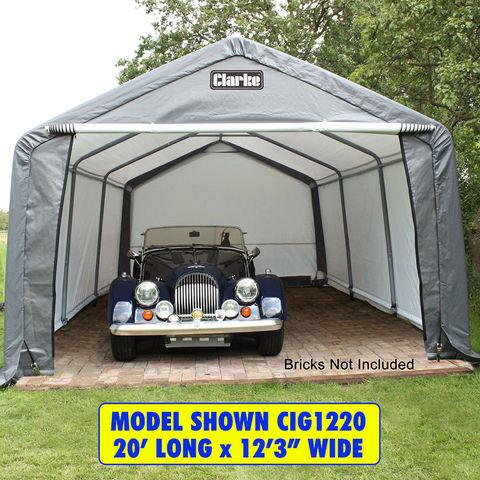 Clarke Clarke CIG1224 Heavy Duty Garage/Workshop - Grey (7.3 x 3.7 x 2.5m)