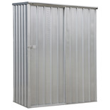 Sealey 1.5 x 0.8 x 1.9m Galvanized Steel Shed with Sliding Door