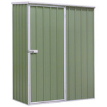 Sealey 1.5 x 0.8 x 1.9m Galvanized Green Steel Shed