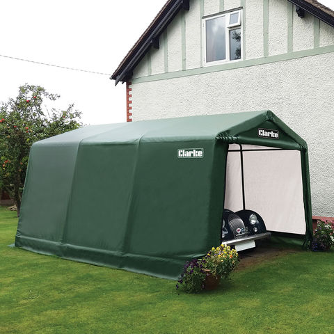 Image of Clarke Clarke CIG81015 Garage / Workshop - Green (4.5 x 3 x 2.4m)
