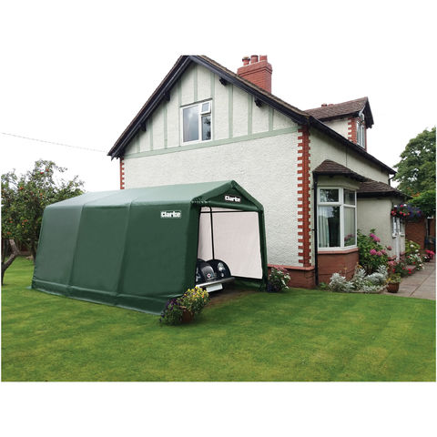 Image of Clarke Clarke CIG81216 Garage / Workshop – Green (4.9 x 3.7 x 2.6m)