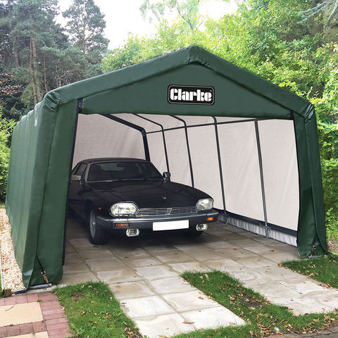Image of Clarke Clarke CIG81224 Garage / Workshop – Green (7.3 x 3.7 x 2.5m)