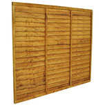 Forest 6x5ft Trade Lap Fence Panel 4 Pack