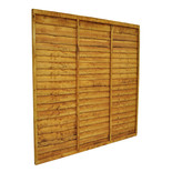 Forest 6x6ft Trade Lap Fence Panel 3 Pack
